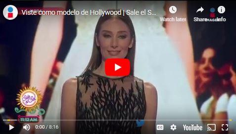 Viste como modelo de hollywood