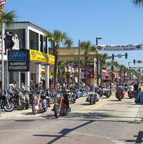 daytona bike week, daytona beach, bike week, bikers, main street, motorcycle rally, world's most famous