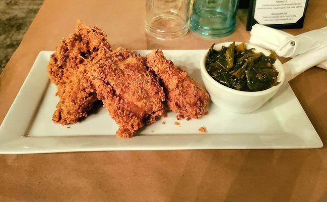Fried Chicken and Collard Greens