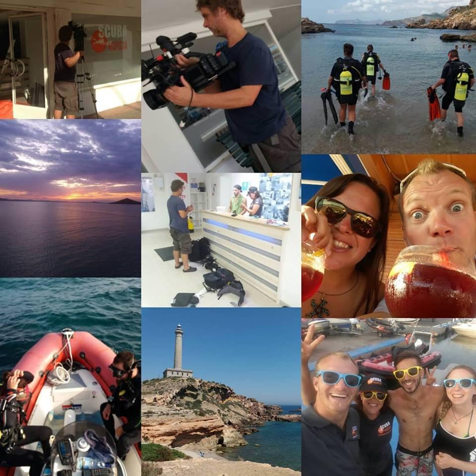 Scuba Murcia filming for Channel 4