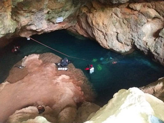Cave diving in Murcia