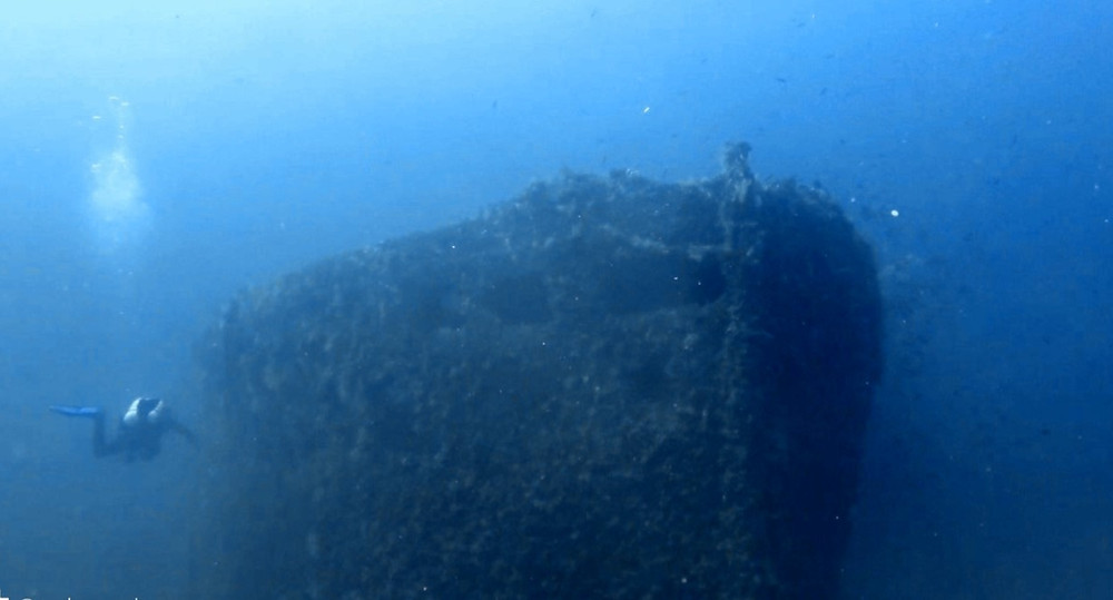The bow of the Carbonero wreck