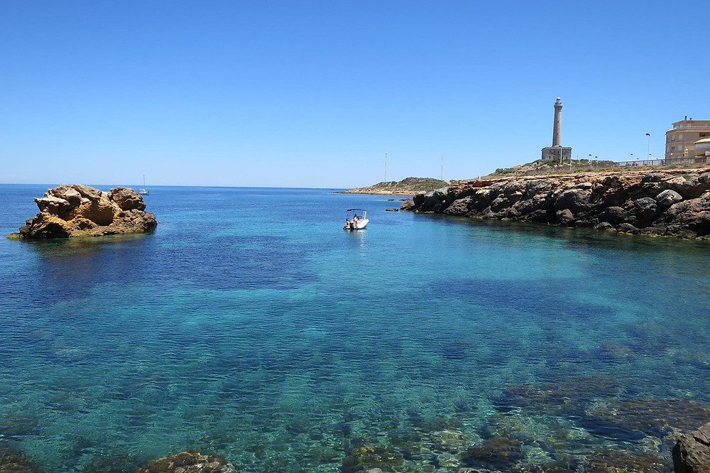 La Manga and Cabo de Palos light house with Scuba Murcia
