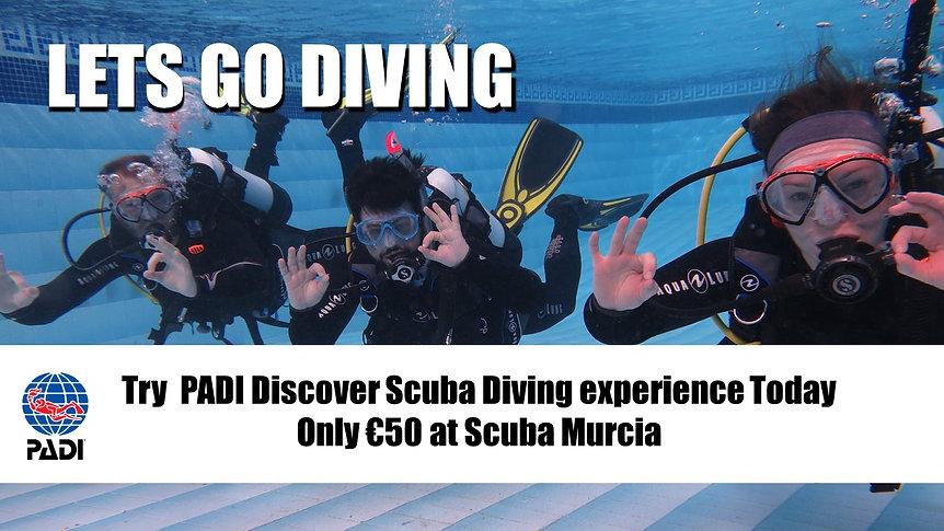 PADI Discover Scuba Diving Scuba Murcia