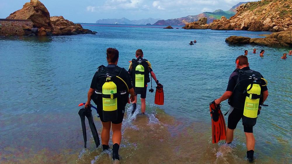 Scuba Murcia PADI Open Water divers
