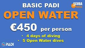 PADI Open water basic deal