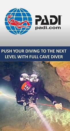 PADI full cave diver course banner