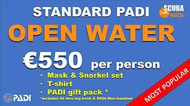 PADI Open Water Standard Deal