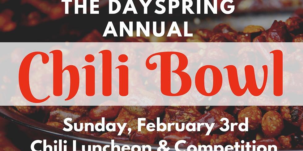 Annual Chili Bowl!