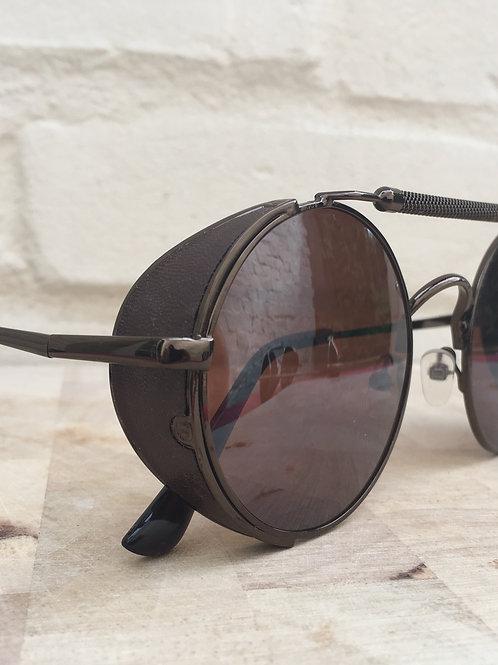 Brown Tan Steampunk RKNZ Sunglasses