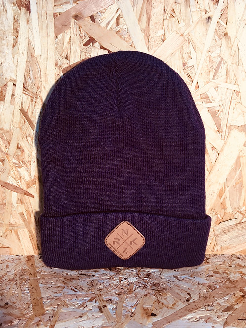 Purple RKNZ Roll Beanie
