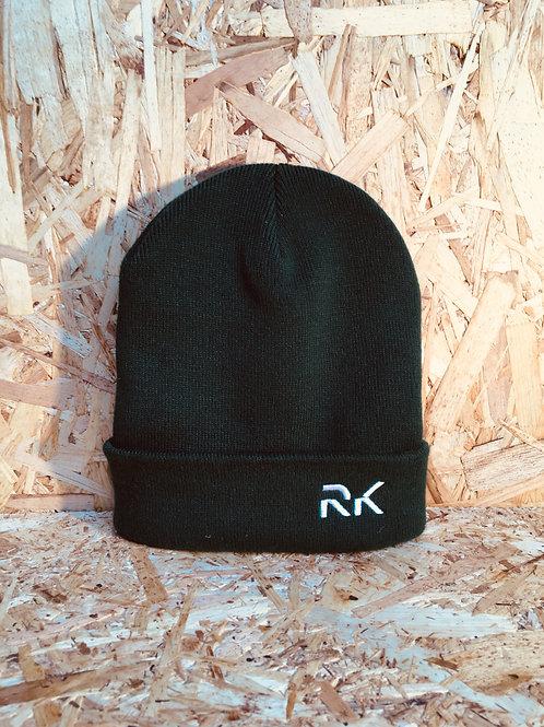 RK Black Folded Beanie