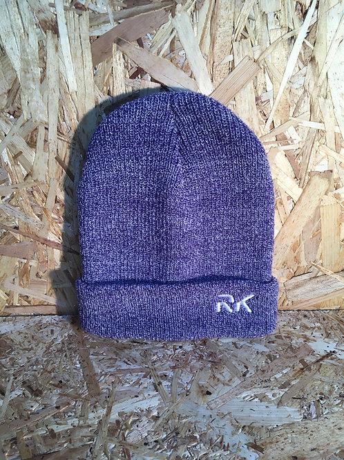 RK Purple Folded Beanie