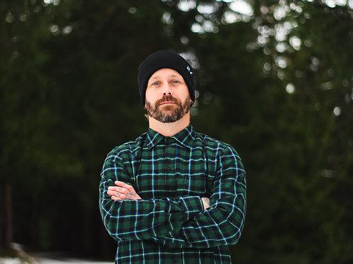 Green Longline Flannel Shirt