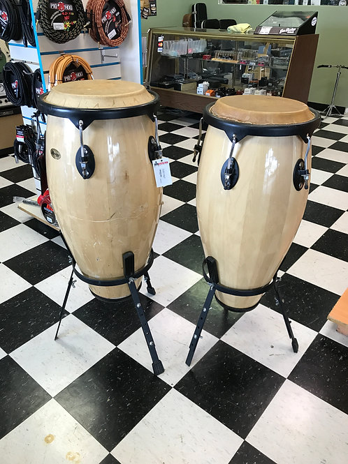 "Rogers 12"" and 13"" Conga Set w/stands"