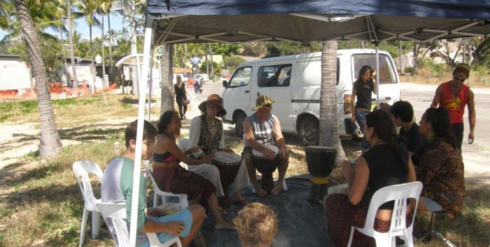 Snorkel Trail Launch Drummers