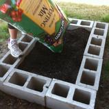 Block Brick Garden Bed
