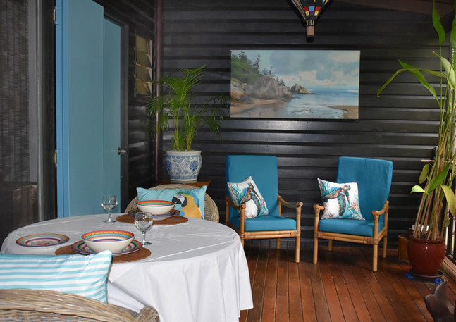 Private dining and deck.