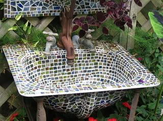 Mosaic Sink Planter