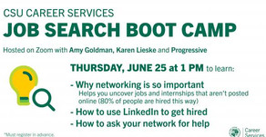 Resources for Job Search Boot Camp:  Networking on 6/25