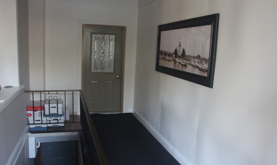 1st floor, Office hallway to the private residence