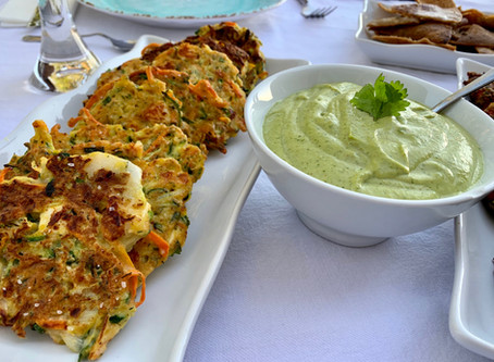 Zucchini Fritters (Mucver) with Tahini Sauce