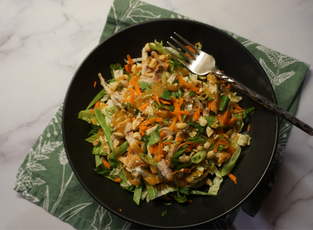 Crunchy Asian Chicken Salad with out of the world Peanut Dressing