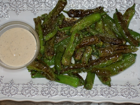 Shishito Peppers with Cool and Creamy Dipping Sauce