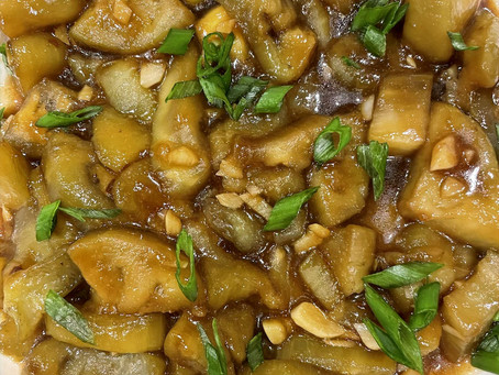 Spicy Asian Eggplant with Garlic