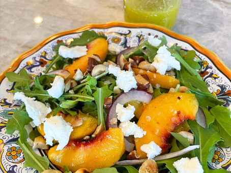 Peachy Summer Salad with Goat Cheese