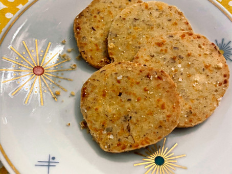 Cheddar-Cayenne Coins (aka BEST homemade crackers EVER)