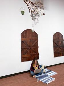 the yogi's office (south wall)