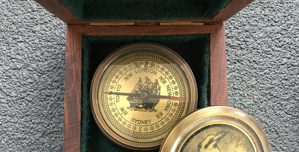 Brass Kookaburra compass