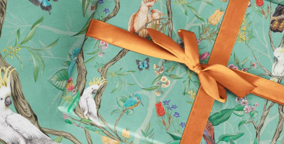 Wrapping Paper -- Native Birds