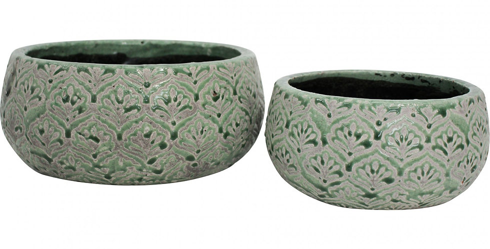 Jade Squat Ceramic Pots