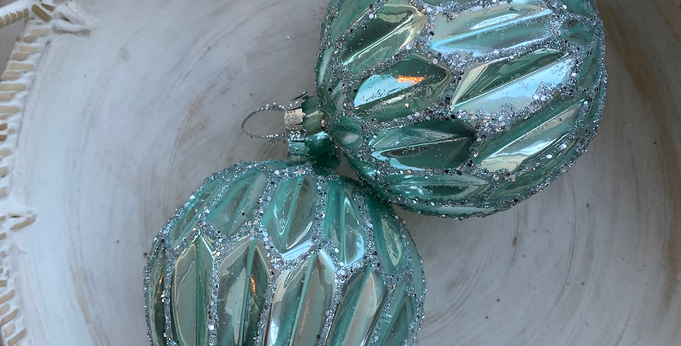 TEAL GLASS BAUBLES