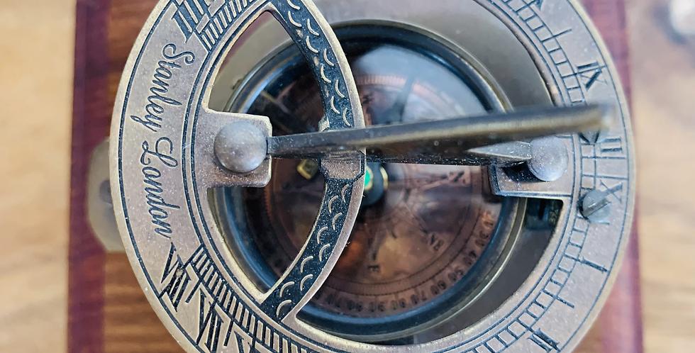 Sundial Compass Brass Finish