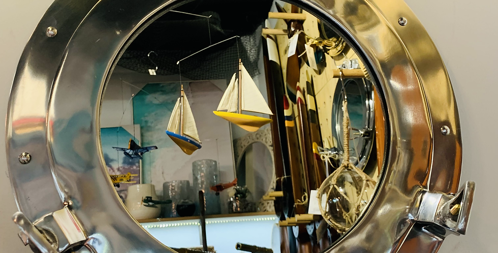 Porthole Mirror Nickle