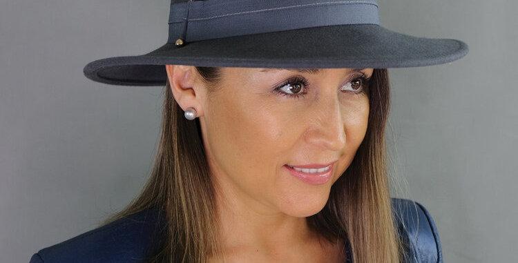 RHIANNA PANAMA STYLE FELT HAT