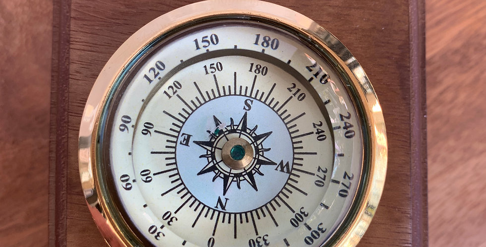 Curved Glass Floating Dial Compass