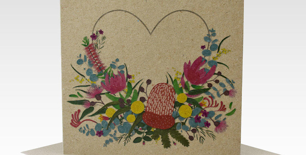 FLOWER HEART CARDS