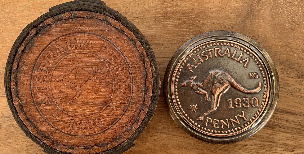 Australian 1930 Penny 60mm Portable Compass