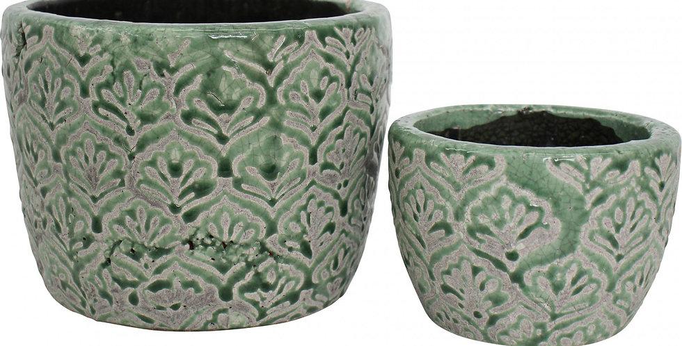 Jade Motif Ceramic Pots