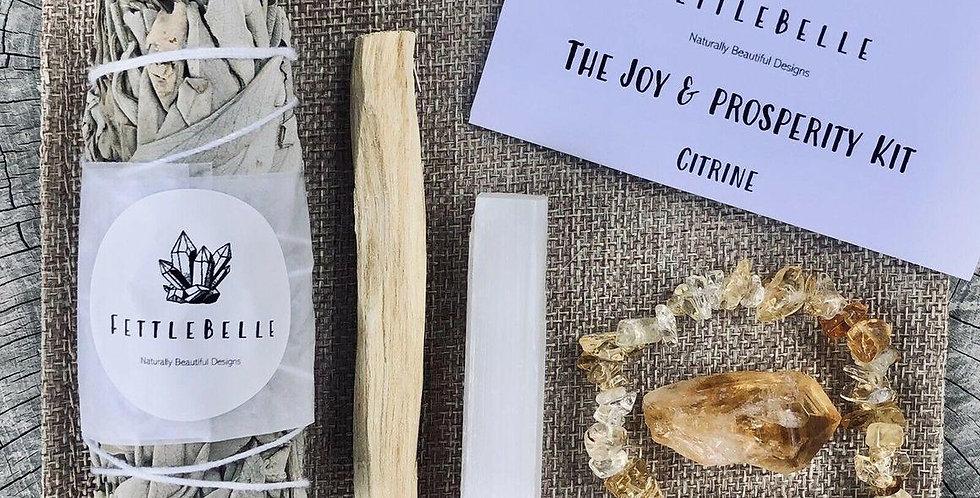 Citrine Crystal Point Joy & Prosperity Smudge Kit