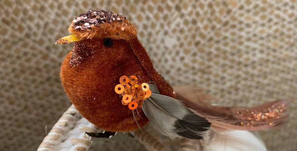 COPPER CLIP ON BIRD