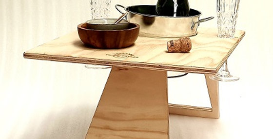 Chill Folding Wine Table – Rectangle Natural