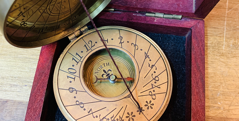 Australian 1930 Penny Portable Sundial Compass