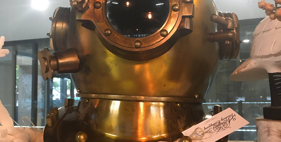 Diving Helmet | US Navy Mark V – Green Antique