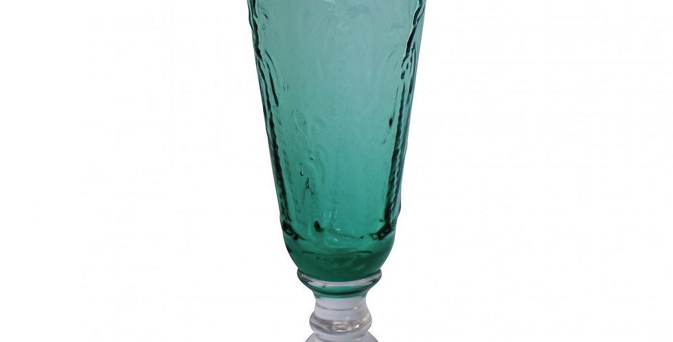 Champagne Flute Palm Aqua
