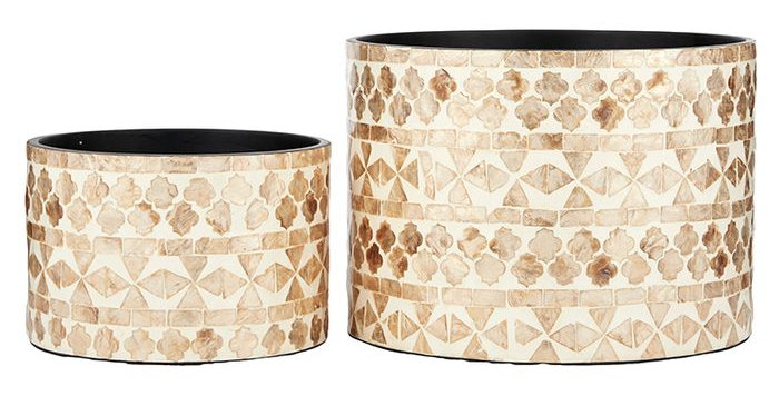 SHELL INLAY PLANTERS